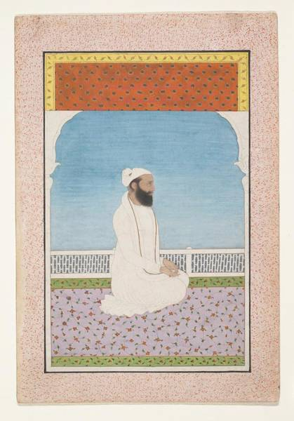 Wall Art - Painting - A Holy Man Seated On A Terrace by Ca 1850