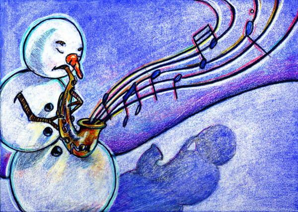 Mixed Media - A Horn For Playing by Nada Meeks
