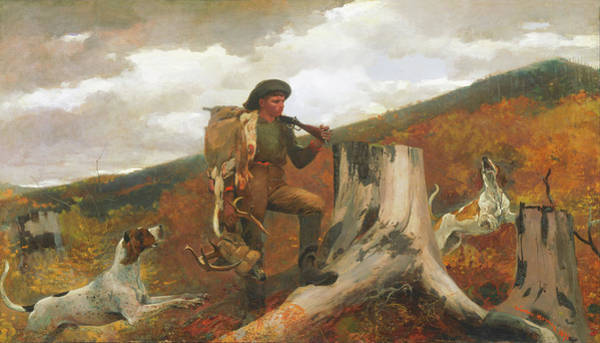 Wall Art - Painting - A Huntsman And Dogs By Winslow Homer 1891 by Movie Poster Prints