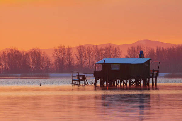 A Hut On The Water Art Print