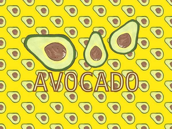 Avocado Mixed Media - A Is For Avocado by Kathleen Sartoris