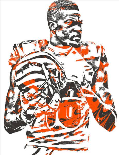 Green Fields Mixed Media - A J Green Cincinnati Bengals Pixel Art 5 by Joe Hamilton