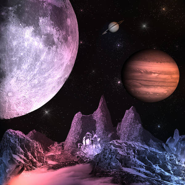 Digital Art - A Journey In Space by Artful Oasis