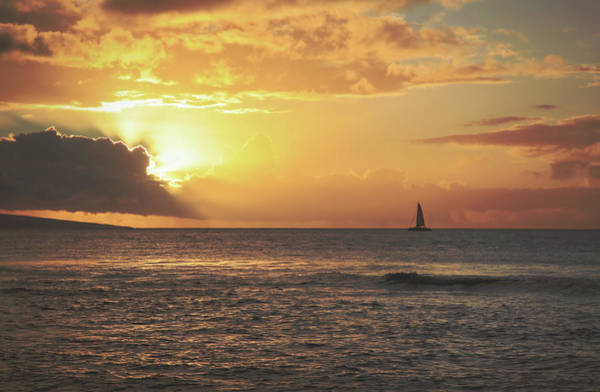 Maui Sunset Wall Art - Photograph - A Journey's End by Laurie Search