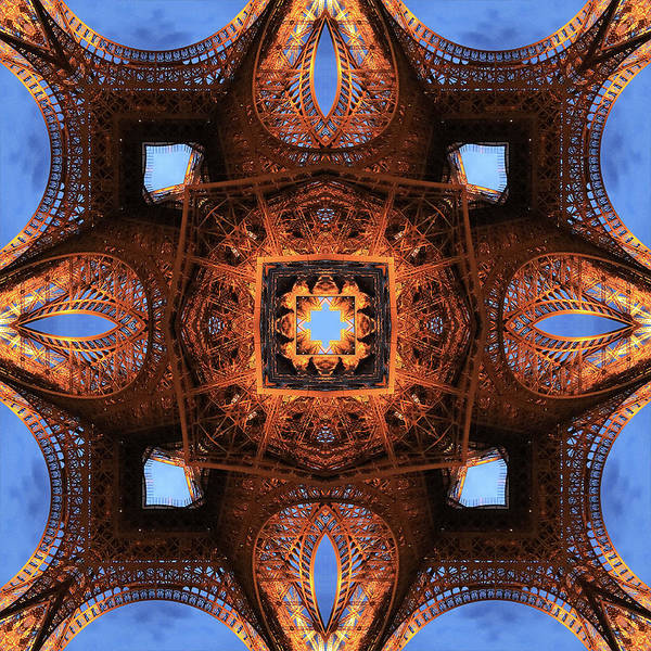 Photograph - A Kaleidoscope Of Trusses by Mary Buck
