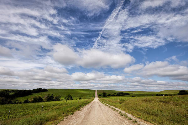 Photograph - A Kansas Country Road by Scott Bean