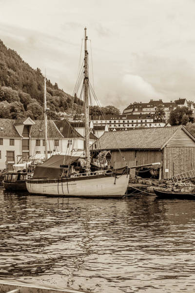 Wall Art - Photograph - A Ketch In Bergen by W Chris Fooshee