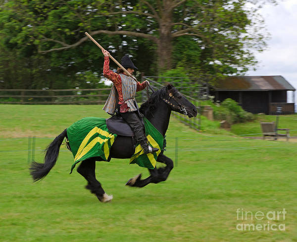 Javelin Photograph - A Knight Practices Throwing A Javelin At A Medieval Reenactment Day by Louise Heusinkveld