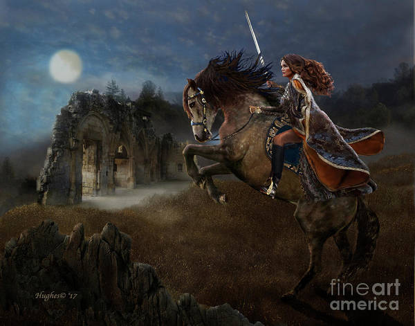 Digital Art - A Knight's Lady by Melinda Hughes-Berland
