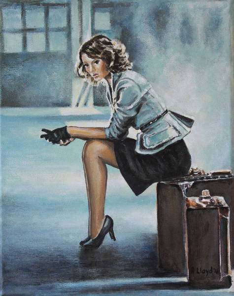Gare Painting - A La Gare by Andy Lloyd