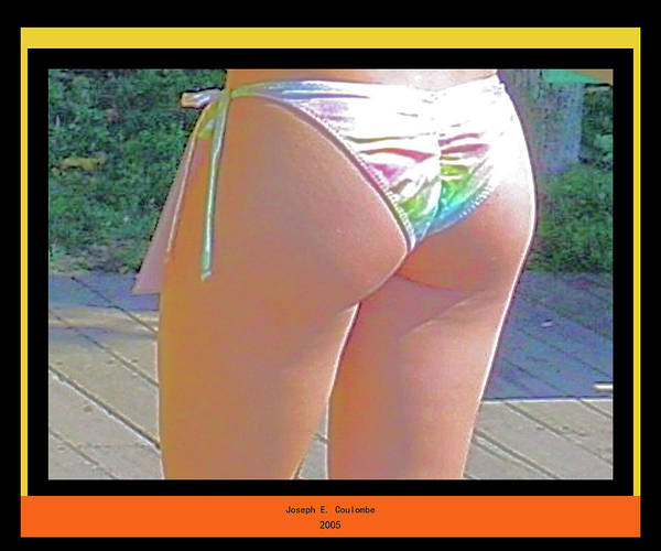 Digital Art - A Lady And Her Bikini by Joseph Coulombe