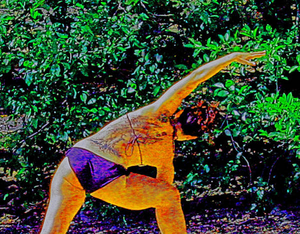 Photograph - A Lady In Balance - Yoga And Body Art by Joseph Coulombe