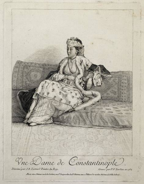 Jean Etienne Liotard Wall Art - Painting - A Lady Of Constantinople by MotionAge Designs