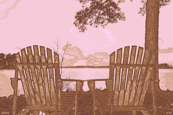 Photograph - A Lake Murray Sc Sketch by Lisa Wooten
