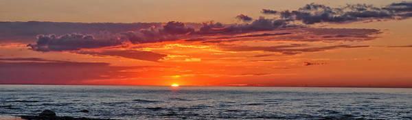Sun Set Photograph - A Lake Sunset by Brian Mollenkopf