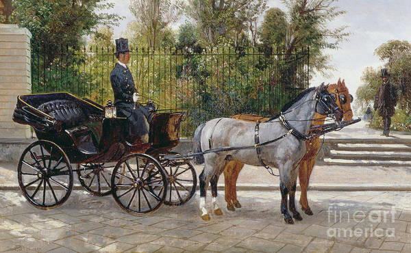 Past Painting - A Landau Waiting by Filippo Palizzi