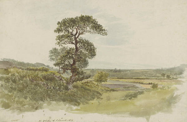 Painting - A Landscape In Snowdonia With A Tree In The Foreground by John Linnell