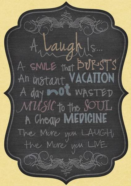 Digital Art - A Laugh Is A Smile That Bursts  by Joy of Life Art Gallery