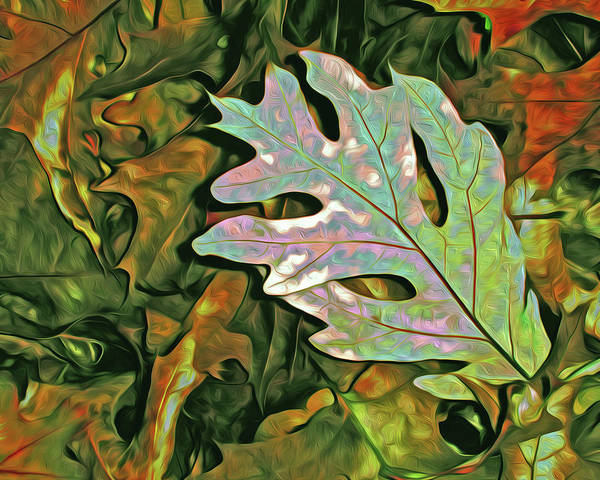 Mixed Media - A Leaf On The Pile by Lynda Lehmann
