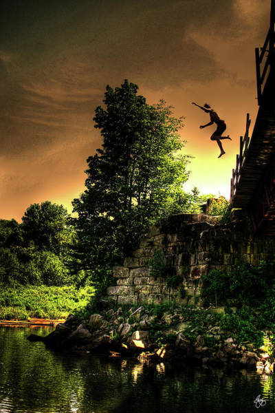 Photograph - A Leap From The Trestle by Wayne King