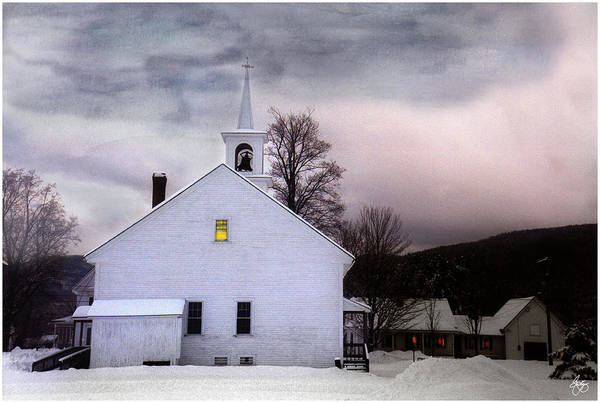 Photograph - A Light In The Old Church by Wayne King