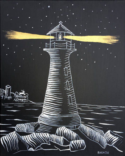 Ocean City Painting - A Light In The Darkness by Nathan Rhoads