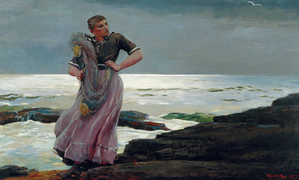1897 Painting - A Light On The Sea by Winslow Homer