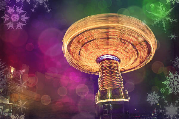 Fairground Photograph - A Light Spin by Carol Japp