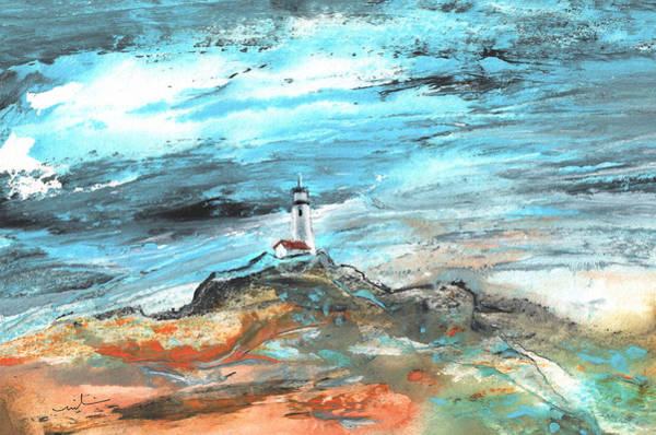 Painting - A Lighthouse In Spain by Miki De Goodaboom