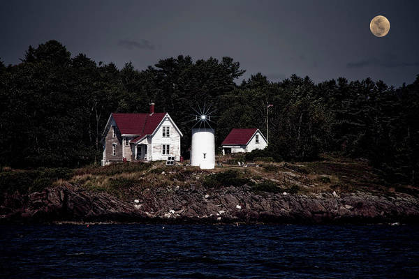 Photograph - A Lighthouse On The Coast Of Maine 2 by Kay Brewer
