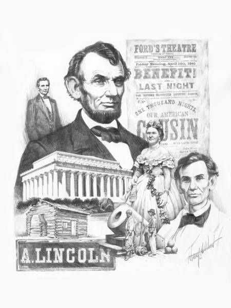 Abe Lincoln Drawing - A. Lincoln by Harry West