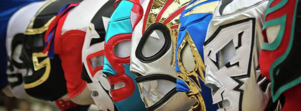 Wall Art - Photograph - A Line Of Lucha Libre Luchador Masks by Derrick Neill