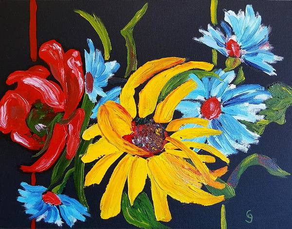 Painting - A Little Brightness    80 by Cheryl Nancy Ann Gordon