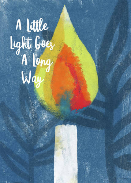 Mixed Media - A Little Light- Art By Linda Woods by Linda Woods