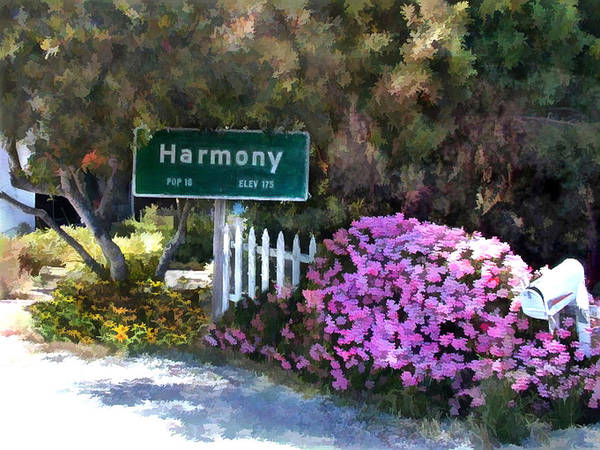 White Picket Fence Painting - A Little Town Called Harmony by Elaine Plesser