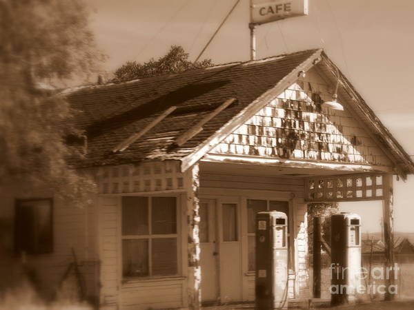 Photograph - A Little Weathered Gas Station by Carol Groenen