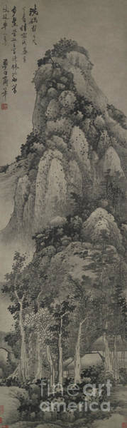 Wall Art - Painting - A Lofty Pavilion, Hanging Scroll by Gong Xian