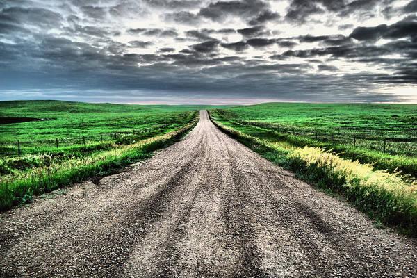 Wall Art - Photograph - A Long Dakota Road by Jeff Swan