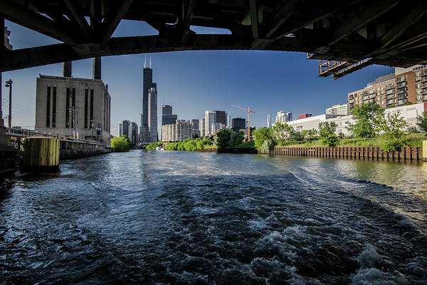 Photograph - A Look At The Chicago Skyline From Under The Roosevelt Road Bridge  by Sven Brogren