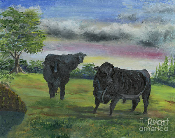 Wall Art - Painting - A Lot Of Bull by Gloria Condon