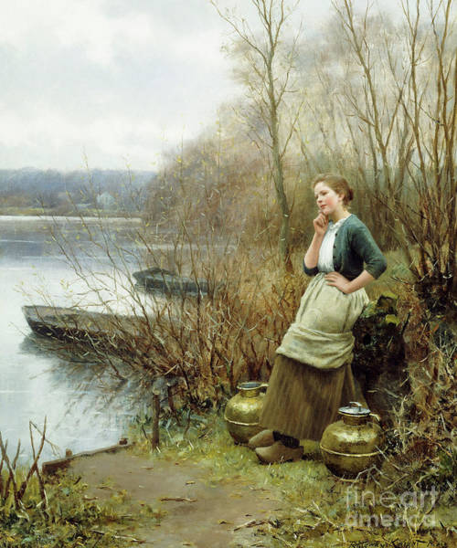 Wall Art - Painting - A Lovely Thought by Daniel Ridgway Knight