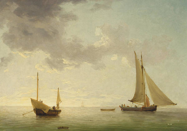 Daylight Painting - A Lugger And A Smack In Light Airs by Charles Brooking