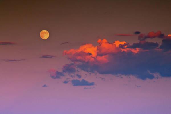 Photograph - A Lunar Dusk by John De Bord