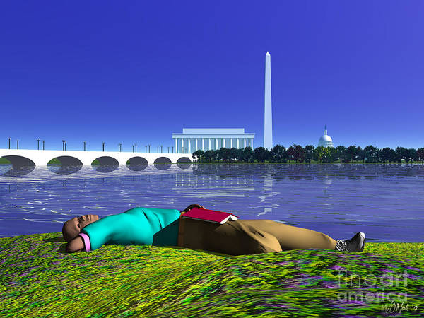 Digital Art - A Lunch Break On The Potomac by Walter Neal