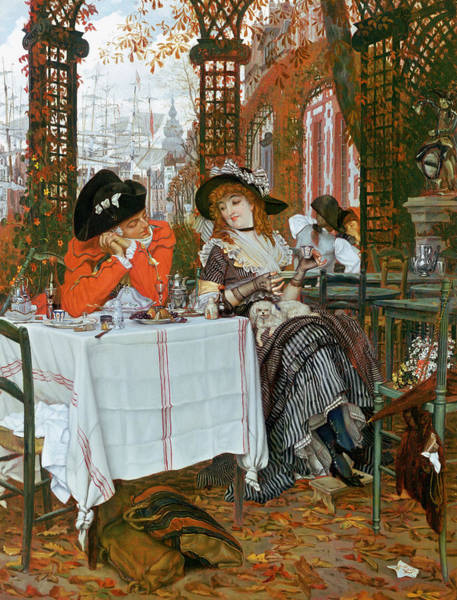 Painting - A Luncheon by Tissot