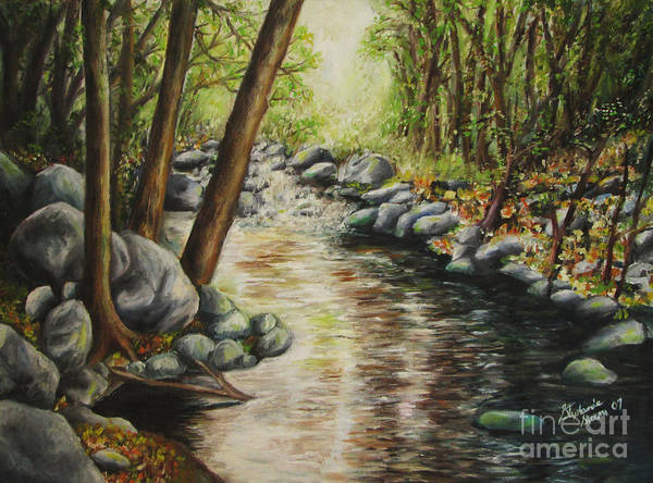 Sand Creek Painting - Magic Stream In Sedona Az by Stephanie  Skeem