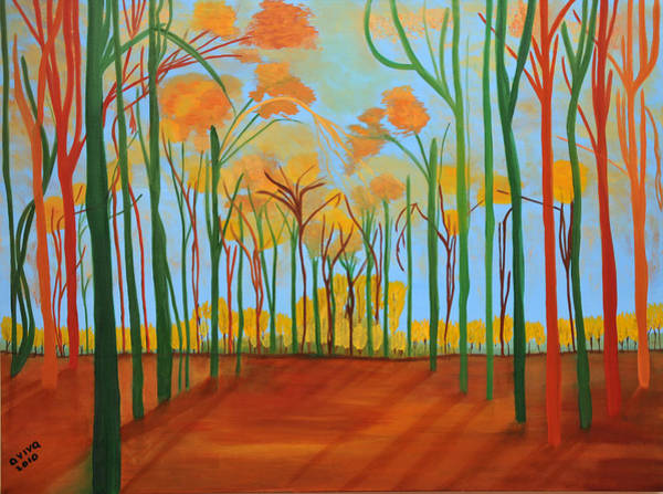 Wall Art - Painting - A Magical Forest by Aviva Moshkovich