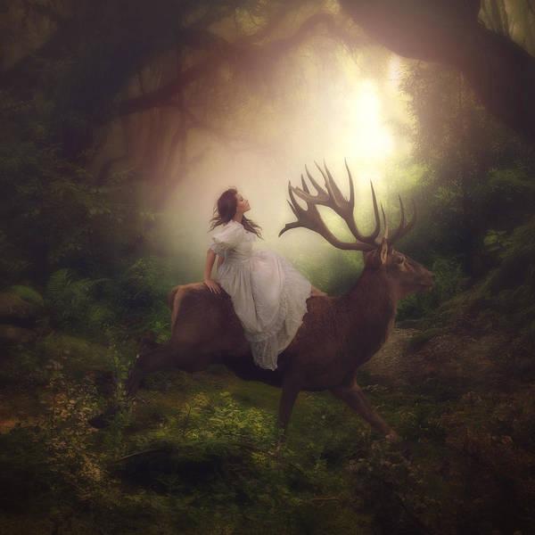 Magical Digital Art - A Magical World by Cindy Grundsten