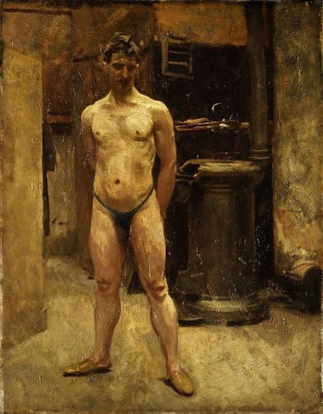 Painting - A Male Model Standing Before A Stove John Singer Sargent by Artistic Panda