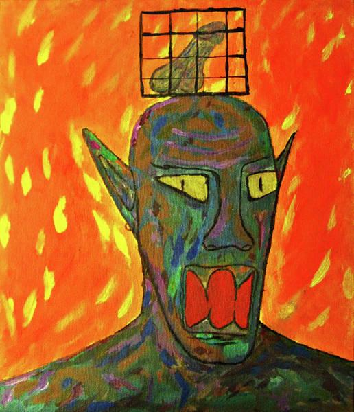 Arousal Painting - A Man Got Burned by Wilson Wan